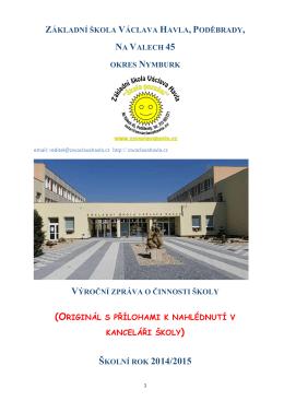 Výroční zpráva 2014 / 2015 - Základní škola Václava Havla