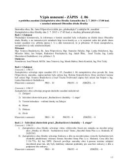 Výpis usnesení č. 6