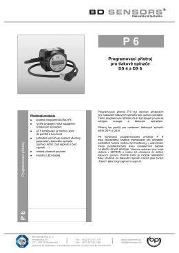 Programovací přístroj pro tlakové spínače DS 4 a