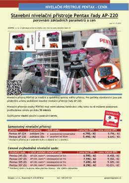 Nivelační přístroj - Stavební
