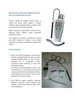 Měření pH s přístrojem Mettler Toledo FiveGo a elektrodou LE438