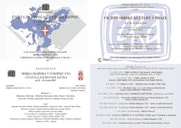 vii. dny srbské kultury v praze status a zachování jazyka