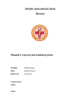 seminární práce-vzor - Střední zdravotnická škola BEROUN