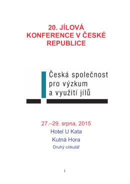 20. jílová konference v české republice