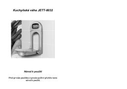 Kuchyňská váha JETT-8032 Návod k použití - Az