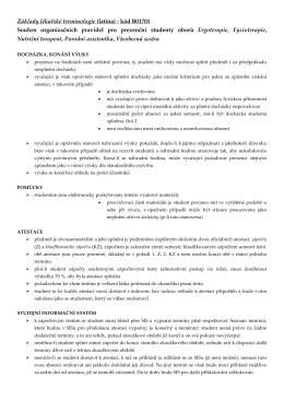 Organizační pravidla pro prezenční BER, FYZIO, BNT, BPA, BVSS