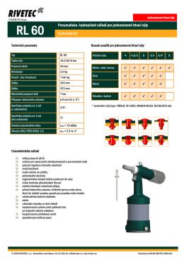 Pneumaticko–hydraulické nářadí pro jednostranné