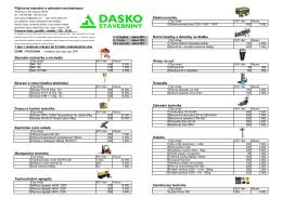 Půjčovna stavební a zahradní mechanizace Elektrické ruční nářadí