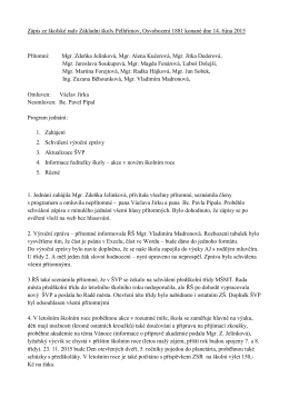 Zápis z jednání 2015 - 14. 10