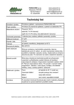 technickém listu