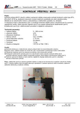 Technický list MVO1
