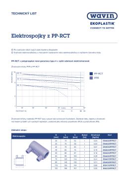 Technický list - Elektrospojky z PP