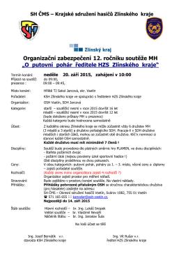 Organizační zabezpečení soutěže - Okresní sdružení hasičů Kroměříž