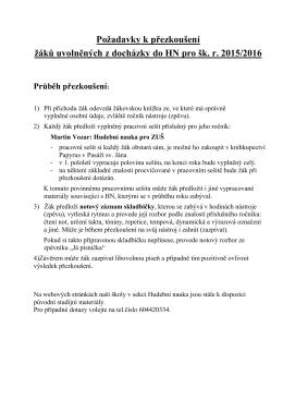 Stáhnout požadavky na přezkoušení v PDF.