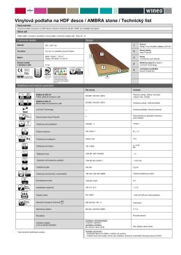 Vinylová podlaha na HDF desce / AMBRA stone / Technický list