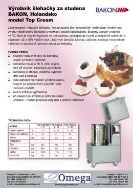 Výrobník šlehačky za studena Bakon Top Cream - Omega