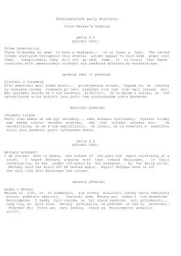 Překladatelské perly Mrazíkovy Clive Barker`s Undying perla č.1