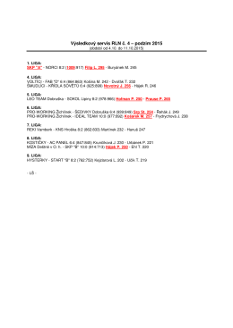 Výsledkový servis RLN č. 4 – podzim 2015
