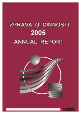 Zpráva o činnosti v roce 2005 ( 4MB)