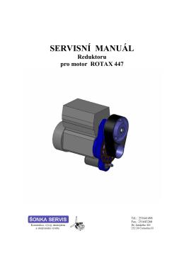 Manuál Redktoru pro motor ROTAX 447