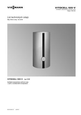 Vitocell 100-V Typ CVW | Technický list | Technická
