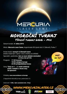 NOVOROCNÍ TURNAJ ˇ - Mercuria Laser Game Praha