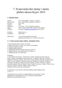 Propozice 7.sv.václav 2015