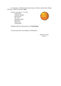 24. listopadu se v Přešticích konal okresní turnaj v košíkové starších