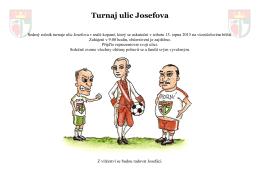 Turnaj ulic Josefova 2015 – plakát