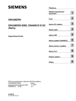 Diagnostická příručka, Alarmy - Siemens Industry Online Support