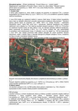 Důvodová zpráva - Zřízení služebnosti - Povodí Vltavy s.p.