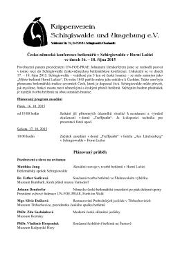 Pozvánka, program a příhláška k účasti