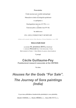 "Houses for the Gods ""For Sale"". The Journey of Sora paintings (India)"