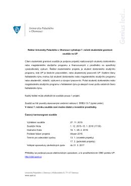 vyhlášení 7. ročníku studentské grantové soutěže