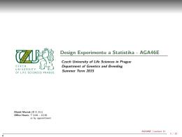 Design Experimentu a Statistika