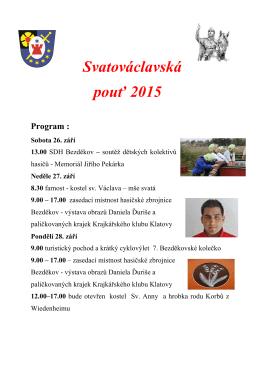 Svatovaclavska pout 2015
