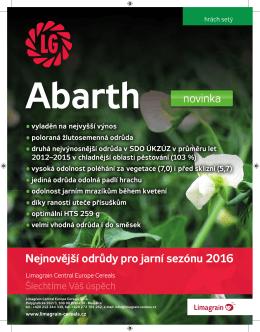 žlutosemenný hrách Abarth - Limagrain Central Europe Cereals, sro