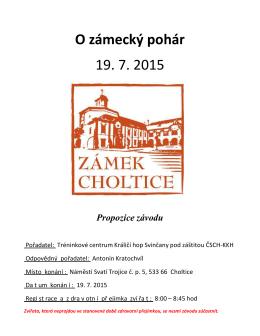O zámecký pohár 19. 7. 2015
