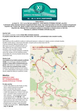 Nikolčice - AGROTEC Rally Hustopeče