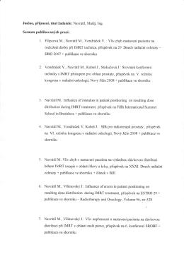 seznam publikací