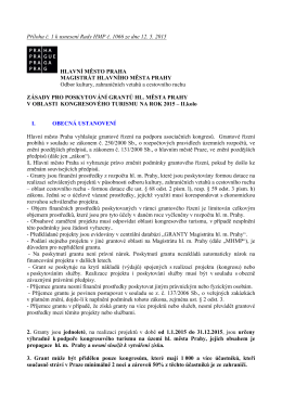 Zásady pro poskytování grantů hl. m. Prahy v oblasti