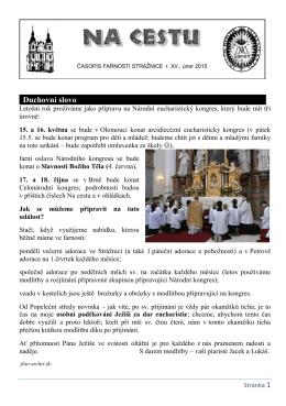 únor 2015 - Římskokatolická farnost Strážnice