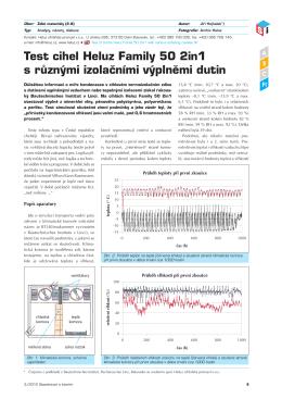 Test cihel Heluz Family 50 2in1 s různými izolačními výplněmi dutin