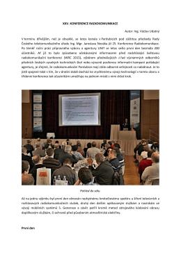 Sdělovací technika - XXV. Konference RADIOKOMUNIKACE 2015