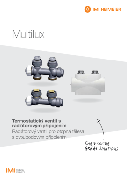 Multilux - IMI Hydronic Engineering