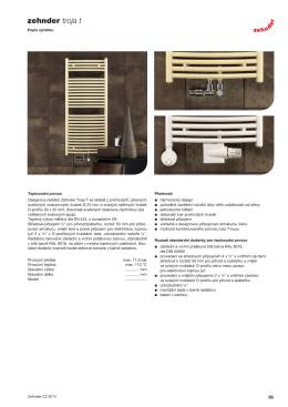 Technický katalog Zehnder Janda Bow