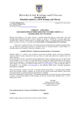 VV Chvatěruby ÚP č.3_Oznameni_společné jednání