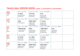 Rozvrh TO 2015-16