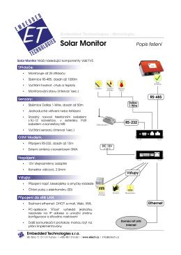 Solar Monitor - popis řešení
