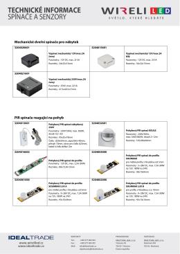 Spínače a senzory - přehled